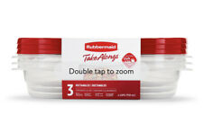 New listing Rubbermaid TakeAlongs Rectangle Food Storage Containers, 4 Cup, 6 Pieces New