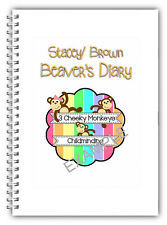 A5 EYFS Personalised Childcare Daily Diary Childminder Provider Own Name & Logo