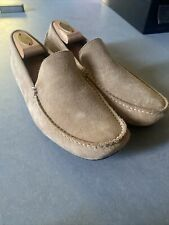 Hugo Boss Moccasin Driving Shoes Drivers Suede Camel Tan Sz 41