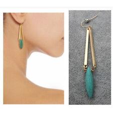 Female Turquoise Earrings Jewelry Women Green Earrings Retro National Style