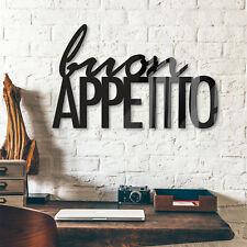 Acrylbuchstaben Buon Appetito DEKOELEMENT Wohnaccessoires Wanddeko schwarz Küche