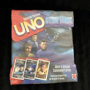 Star Trek UNO Family Card Game Special Edition w/Collectible Tin, NEW & SEALED