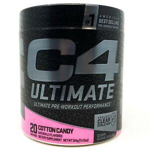 Cellucor C4 Ultimate Pre-Workout Powder 20 Servings Cotton Candy Caffeine & Pump