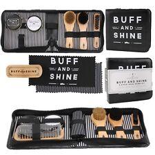 The Dapper Chap Buff & Shine Shoes Polishing Kits Brushes Cloths Polish Gift Set