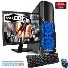 ULTRA FAST QUADCORE GT710 DESKTOP PC COMPUTER PER GIOCARE Set 3.4 GHZ 8GB 1TB
