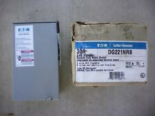 Eaton Cutler Hammer 30a 120-240v General Duty Safety Switch DG221NRB Type B