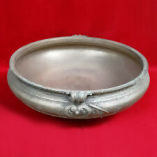 Antique Urli Handmade Brass Uruli Vessel Vintage Vastu Bowl Home Decor Estate US