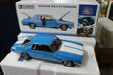 CLASSIC 1/18 HOLDEN HQ GTS MONARO 2 DR AZURE BLUE WITH WHITE STRIPES  #18683