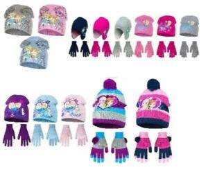 Girls Winter Hat Gloves Paw Patrol Frozen Hatchimals LOL Surprise 4 5 6 7 8 Year
