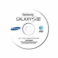 User Manual for Samsung Galaxy S III (S3) Smart Phone (Jelly Bean OS) AT&T on CD