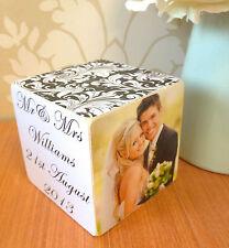 Hand Made In Legno Personalizzato Matrimonio Fidanzamento Photo Frame cubo ricordo regalo