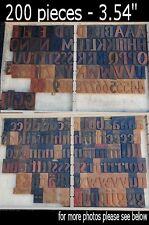 "letterpress printing blocks 200 pcs 3.54"" tall alphabet type letters letter ABC"