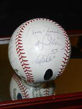 New York Yankees World Series MVP's Baseball L/E 36 JETER RIVERA.. COA  STEINER