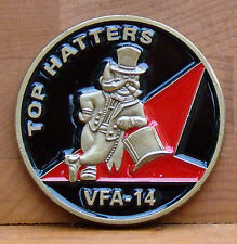 VFA-14 Top Hatters Challenge Coin F-18 Fighter Squadron