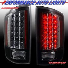 """2007-2008 DODGE RAM 1500 / 07-09 2500 3500 PICKUP """"L.E.D."""" TAIL LIGHTS LED BLACK"""