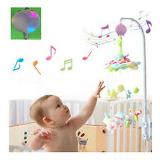 LED 12 Melodies Song Baby Mobile Crib Bed Bell Electric Autorotation Music Box