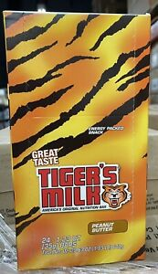 Tiger's Milk Peanut Butter Protein Nutrition Bar, Energy-Packed  Exp 7/2021