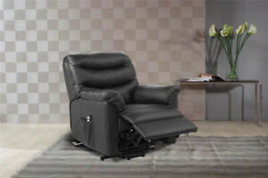 Regency Rise & Recliner Black Faux Leather Armchair Clearance 99p Brand New
