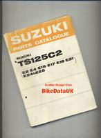 Suzuki TS125 C2 (1978 >>) Factory Parts List Catalogue Book Manual TS 125 C CG44
