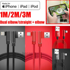 3/2/1M 90 Degree Right Angle USB Charger lightning Cable Apple iPhone iPod iPad
