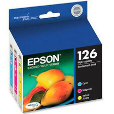 2018 Epson 126 3-Color set Genuine Ink WorkForce WF-7010, WF-7510, WF-7520