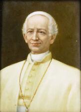 Peinture originale sur Porcelaine:le pape Léon XIII(1810-1903)ROME POPE VATICANO