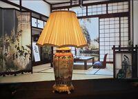 Lampe Vase Imari Porcelaine Japon Bronze