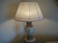 Sehr schöne Tischlampe, toskanischer Stil, Fuß massiv Holz H=75cm top erhalten