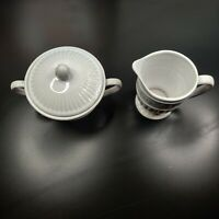 Gibson Designs Claremont Creamer & Sugar Bowl with Lid Fast Free Shipping