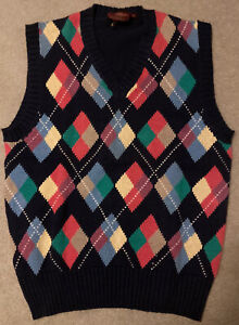 X-Large Donegal Bay NCAA Purdue Boilermakers Argyle Sweater Vest