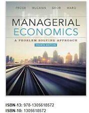 Managerial Economics A Problem Solving Approach