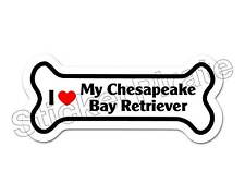 *Dog Bone Magnet* I Love My Chesapeake Bay Retriever Car Truck Locker