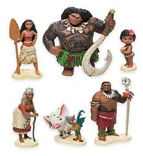 Moana Maui Hei Hei Playset 6 Figure Cake Topper *FAST SHIPPING* Toy Doll Set