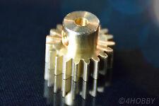 Zahnrad Ritzel 0.8M19T Getriebe M0,8 Antrieb 19 Zähne Messing 3,17mm Welle 11179