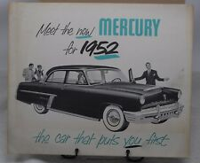 1952 MERCURY SALES BROCHURE ORIGINAL