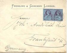 """2427 1894 QV 2 1/2 D (2 x) multiple postage cover Duplex """"LONDON E.C. - E.C. 63"""""""