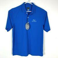Greg Norman Blue Premium Golf Polo Shirt Size Men's Medium BNWT 'Brookwater'