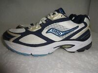 Saucony Grid Omni 5 Women's Size 8 White Blue Athletic Sneaker Shoes