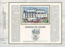 FEUILLET CEF / DOCUMENT PHILATELIQUE / CHATEAU DE LOCHES 1986 LOCHES