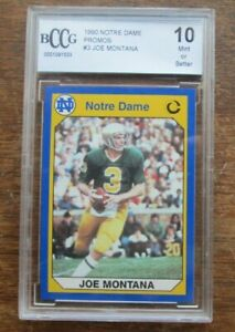 JE Notre Dame Promo Joe Montana 1990 Collegiate Collection BCCG 10 MINT #3