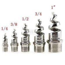 """1/4"""" 1/2"""" Stainless Steel Spiral Cone Atomization Spray Nozzle Sprinkler Heads"""