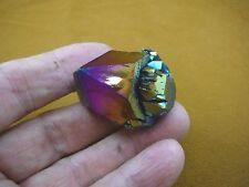 (R1-82) iridescent Aurora Crystal quartz titanium GEM gemstone Aura specimen