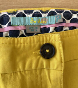 Boden Yellow Shorts Size 12