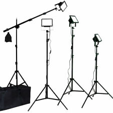 4 LED Photo Studio Video Light Kit Boom Photography All Metal Body Lusana Studio