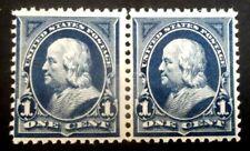 Buffalo Stamps: Scott #264, 1895 Franklin Pair, Mint Nh/Og & F/Vf, Cv = $50
