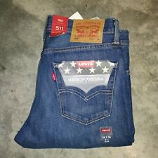 Levis Big & Tall 511 Slim White Oak Cone Mills Jeans Made In USA sz 32x36 nwt