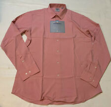 Kilburne-Finch Slim Fit Stretch Pink Button Up Shirt Sz 16 1/2 34/35 Nwt