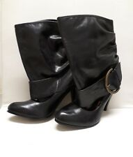 Naughty Monkey Leather Open Ankle Bootie - Buckle Closure - Adjustable -Size 6.5