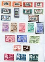 BRAZIL STAMPS LOT ON ALBUM SHEETS YEARS 1942/1957 -NOT CONSECUTIVE MH & USED VF