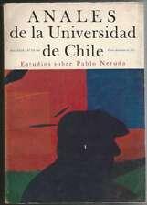 Anales De La Universidad De Chile Book Pablo Neruda 1971